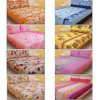 VN 8 Designer Double Bed Sheets With 16 Pillow Covers