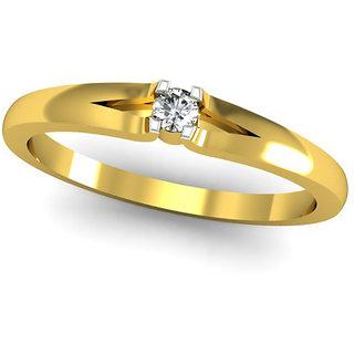 JewelHub SI-IJ Diamond  Ring 0.06 ct /2.24 gm 18k Yellow Gold