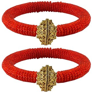 Red Plain Brass Bangle