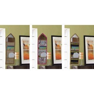 Combo of 3 Wall Hanging Storage Bag 3 Pockets