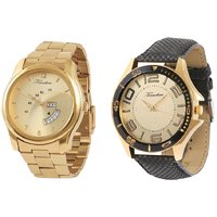 Timebre Men Royal Gold Day  Date Analog Watch Combo-151