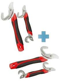 Buy 1 get 1 Free Traders5253 Snap N Grip Red Steel Multipurpose Wrench - Set Of 2