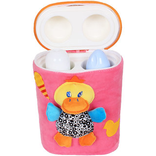 Ole Baby 3D Pop Out Plush Soft Toy Assorted Double Portable Infant Feeding Milk Food Bottle Thermal Warmer Bag Storage Holder (Upto 250ml each)