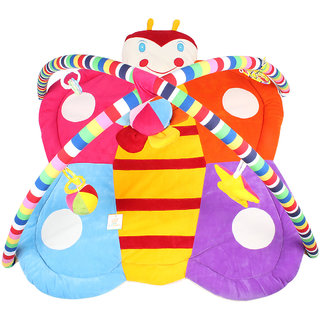 Ole Baby Plushy Butterfly Twist and Fold  Musical Activity Play Gym-Newborn PlayMat