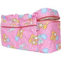 Ole Baby Pink Teddy Premium Multi color Teddy Checks Print Diaper Bags With Warmer