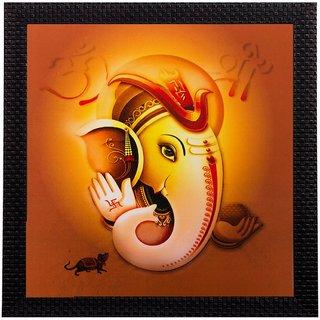 eCraftIndia Lord Ganesha Matt Textured UV Art Painting