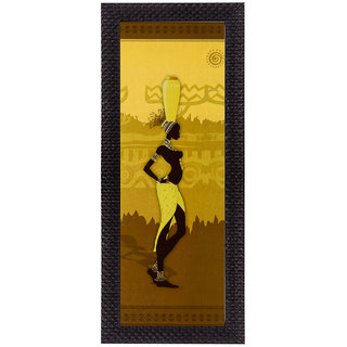 eCraftIndia Tribal Lady Matt Textured UV Art Painting