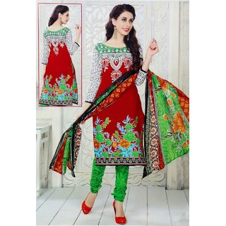 Takshila Creations Women'S Cotton Unstitched Salwar Suits Dress Material