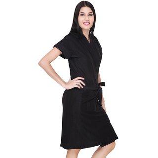 4ee54e4162 Buy FeelBlue Cotton Bathrobes (Black) Online - Get 53% Off