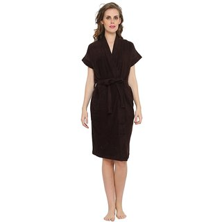 FeelBlue Women's Cotton Bathrobes (Brown)
