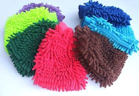 Buy 1 Get 1 Free! Assorted Microfibre Dusting And Cleaning Hand Gloves - FBRDGL