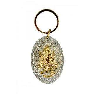 Ganesh Oval Keychain By Parshwa Padmavati