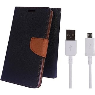 Wallet Mercury Flip Cover for Samsung Galaxy Note  i9220  (BROWN) With USB CABLE