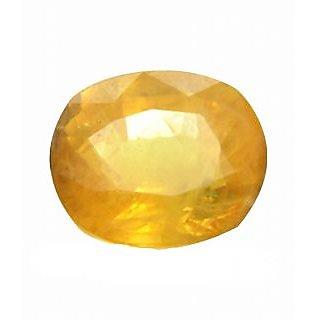 P.p.gems Yellow Sapphire (pukhraj) Certified Gemstone  3.25 ratti