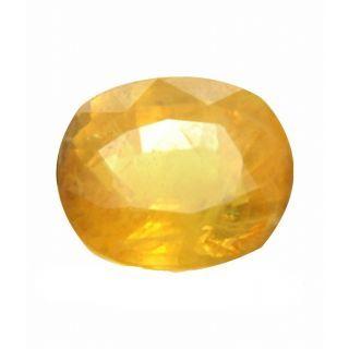 P.p.gems Yellow Sapphire (pukhraj) Certified Gemstone  4.25 ratti