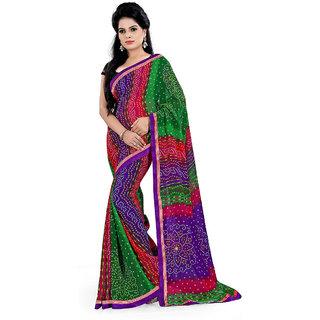 Karishma Synthetic Multicolor Casual Saree