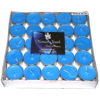 OCEAN BLUE TEA-LIGHT CANDLE(Pack Of 50)