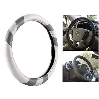 MP Car Steering Cover For Maruti A-Star Grey