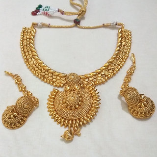 a2d60f1f973 Buy Beautiful Short Necklace Set - Design 035 Online @ ₹850 from ...