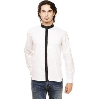 Rigo Men's White Slim Fit Casual Shirt