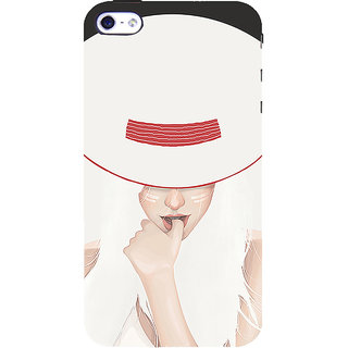 ifasho Gorgeous Winking Girl in white hat Back Case Cover for Apple iPhone 5