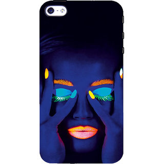ifasho Girl with shining eyes and lips Back Case Cover for Apple iPhone 5