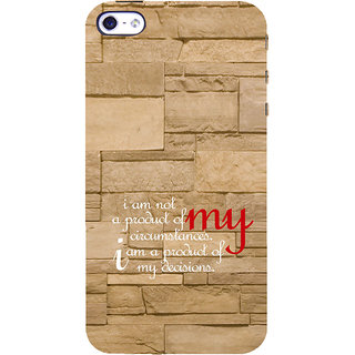 ifasho Kowledge quotes on stone pattern  Back Case Cover for Apple iPhone 5