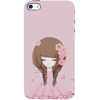ifasho Girl  with Flower in Hair Back Case Cover for Apple iPhone 5