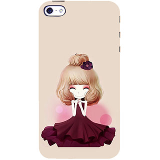 ifasho Girl  with Flower in Hair Back Case Cover for   5