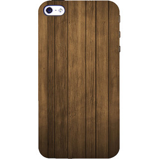 ifasho Brown Wooden Pattern Back Case Cover for Apple iPhone 5