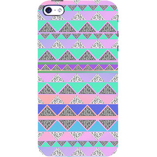 ifasho multi color Triangular Pattern Back Case Cover for Apple iPhone 5