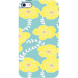 ifasho Animated Pattern flower with leaves Back Case Cover for Apple iPhone 5