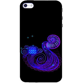 ifasho zodiac sign aquarius Back Case Cover for Apple iPhone 5