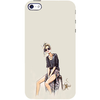ifasho modern Girl painting Back Case Cover for Apple iPhone 5