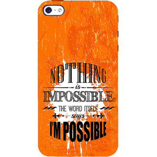 ifasho Good Quote on Achivement Back Case Cover for Apple iPhone 5