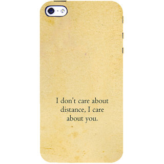 ifasho care quotes  Back Case Cover for Apple iPhone 5
