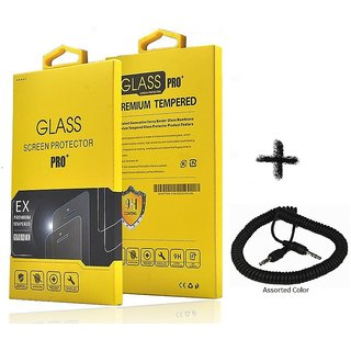 Tempered Glass Screen Protector For  Gionee Elife S5.5 With Car Audio Connection AUX Spring Cable