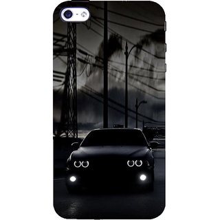 ifasho Black Car Back Case Cover for Apple iPhone 5