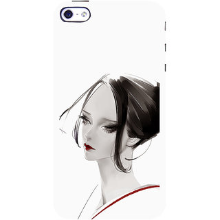 ifasho Chinese Girl Back Case Cover for Apple iPhone 5