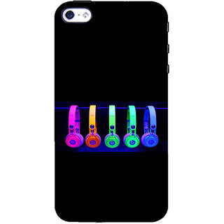 ifasho Modern Art Design Pattern Music Instrument head phone Back Case Cover for Apple iPhone 5