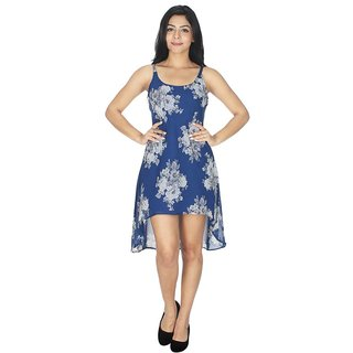 Ticsa Blue Georgette Dress