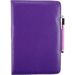 Emartbuy Bush Eluma B1 10.1 Inch Windows Tablet PC Universal ( 9 - 10 Inch ) Purple 360 Degree Rotating Stand Folio Wallet Case Cover + Stylus