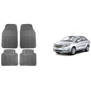 Chevrolet Sail  Rubber Car Foot Mat Set of 4 Pcs.(Black)