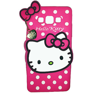 Hello Kitty Back Cover for Samsung Galaxy On5 (Pink)