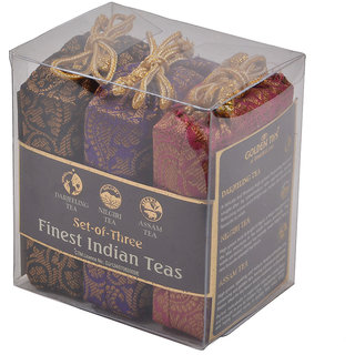Golden Tips Black Tea, 3-in-1 Darjeeling, Nilgiri  Assam - Brocade Bags, 50x3g