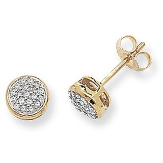 Zivaha Charming 92.5 Sterling Silver Yellow Gold Plated Silver Stud Earring ZIE2035