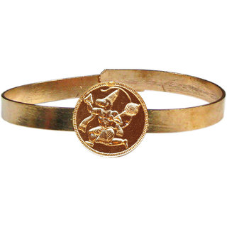 Sanjeevanagahatre Hanuman Adjustable Copper Bangle Bracelet