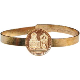 Shiv Ling and Sakthi Adjustable Copper Bangle Bracelet