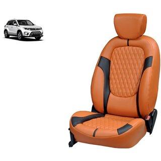 Maruti Grand Vitara Breeza PU Leatherite Car Seat Cover- PU0026