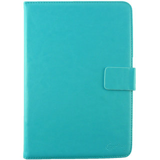 Emartbuy Ampe A70 4G 7 Tablet PC Tablet 7 Inch Universal Range Turquoise Plain Multi Angle Executive Folio Wallet Case Cover With Card Slots + Stylus